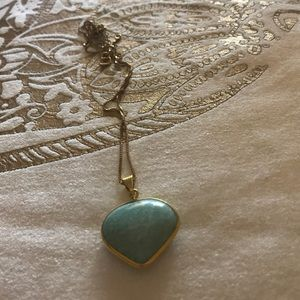 quartz heart with gold plated chain